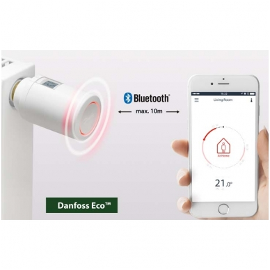 Radiatoriaus termostatas Danfoss ECO 5